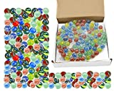 ARSUK Cat'S Eye Color Glass Marble Runs, Viene en una Bolsa, protección contra daños, Juguetes Deportivos y Juegos al Aire Libre (200 Piezas de mármol de Color)