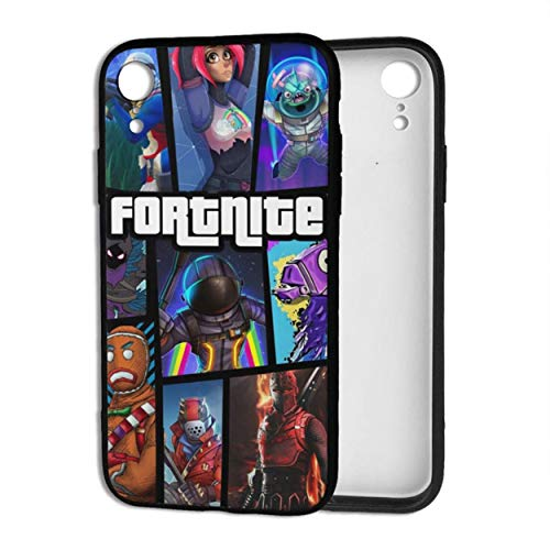 Fortnite iPhone XR case is Compatible with iPhone XR, Ultra-Thin Mobile Phone case TPU Material Full Body Protection, Shock-Proof and Anti-Drop Shell, Suitable for iPhone XR (1.Black, iPhone XR)