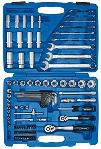 SW-Stahl S2299 Steckschlüsslsatz I 92-teilig I Zöllig I Werkzeugkoffer Industriequalität