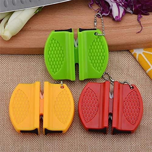 PPuujia Mini afilador de cuchillos de cerámica de dos etapas de tungsteno portátil tipo mariposa afilador afilador cuchillos de afilar piedra (color: rojo, tamaño: S)