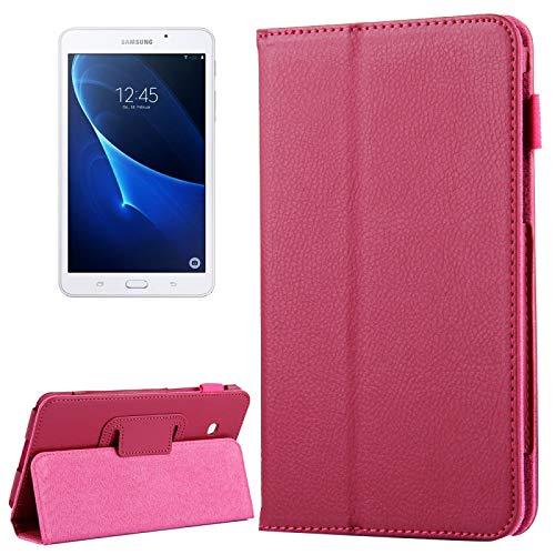 Dmtrab Para Samsung Galaxy Tab A 7.0 / T280 Case, Litchi Texture Magnetic Horizontal Flip Funda de Cuero con Titular (Azul Oscuro) Cajas de tabletas (Color : Magenta)