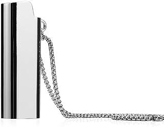 حافظة جلدية جميلة من تيدوو بتصميم ولاعة قلادة سلسلة للرجال مجوهرات الهيب هوب