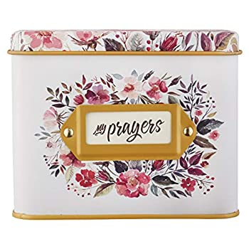 Christian Art Gifts Prayer Cards In Tin   My Prayers – 50 Double Sided Cards   Bible Verse Encouraging Gift for Women