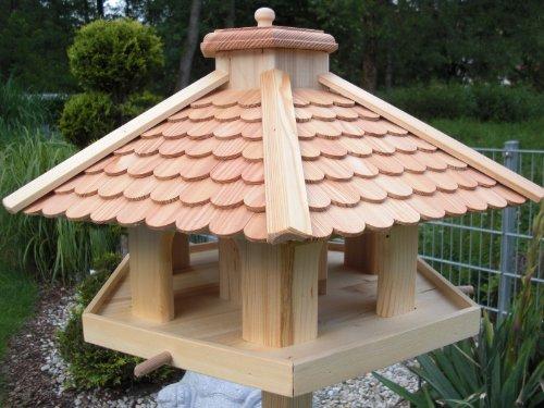 Vogelhaus Vogelhäuser-(V52)-Vogelfutterhaus Vogelhäuschen-aus Holz- -Lärche - 3