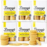 Dewey's Bakery Meyer Lemon Moravian Cookie Thins   Baked in Small Batches   Real, Simple Ingredients   Time-Honored Southern Bakery Recipe   9 oz (Pack of 6)