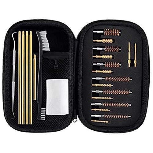 BOOSTEADY Rifle & Handgun Cleaning Kit .22.30.243.280.40.45.357/9mm/.380 Multi-Caliber Bore Brushes Brass Jags