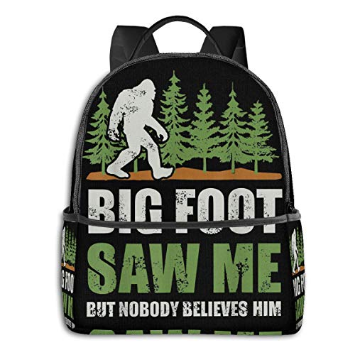 Bigfoot Saw Me But Nobody Believes Him Backpack Bookbag...