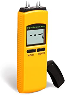 Wood Moisture Meter, Terme Digital Portable Wood Water Moisture Tester, 4 Sensor Pins Detector Tool Range 5% - 40%, Accuracy: +/-1%