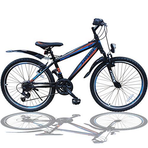 Talson 20 Zoll Fahrrad Shimano 18-Gang Mountainbike - mit Gabelfederung und Beleuchtung Neu