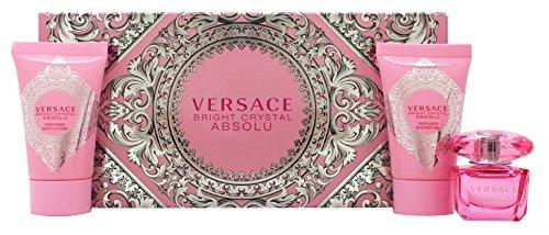 Versace Bright Crystal Absolu Geschenkset 5ml EDP + 25ml Body Lotion + 25ml Duschgel