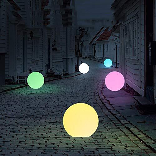 luckything LED Solarkugel Gartenleuchte Kugelleuchte, Solar Ball Gartenleuchte Mit 8 Dimmbaren Farben wasserdichte Stimmungslampe Für Garten/Hof/Teich/Pool - 85x85x85 MM; Farblicht