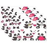 Valentine Panda Mantel Individual, Valentine Panda 12 'x 18' de poliéster Mantel Individual para Cocina Comedor Set de 6 para niños