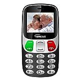 YINGTAI T47 2G Téléphone Senior Portable Débloqué avec Grandes Touches et Bouton SOS