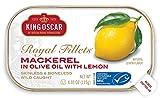 King Oscar Skinless & Boneless Mackerel in Olive Oil & Lemon, 4.05 oz. Cans (Pack of 12)