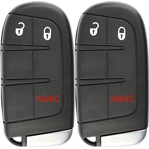 KeylessOption Keyless Entry Remote Car Smart Key Fob for 2011-2018 Dodge Dart Journey Charger Chrysler 300 M3N-40821302 (Pack of 2)