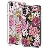Idocolors Cover per iPhone 6 Plus/6s Plus Antiurto Protettiva Custodia TPU Morbido Backcover Cellulare Cover Trasparente Fiore Viola