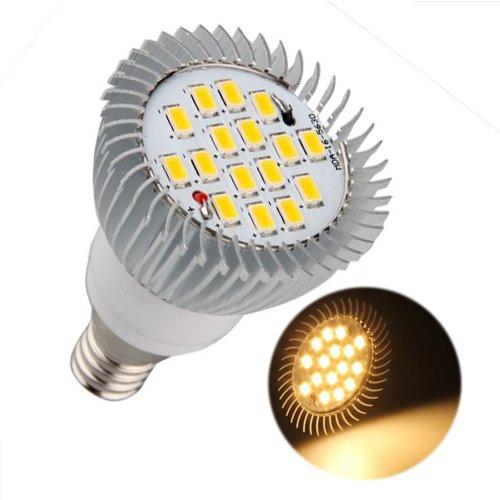 E14 Ampoule Lampe Spot 5630 SMD 16 LEDs Blanc Chaud 3500K 550LM