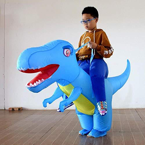 Haiyang Opblaasbaar kostuum, polyesterfabriek, dinosauruiterkostuum, cosplay party kostuum, rekwisieten