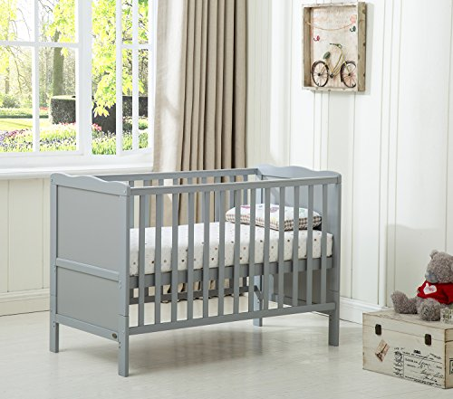 MCC Grey Wooden Baby Cot Bed 'Orlando' Toddler Bed Premier Water repellent...