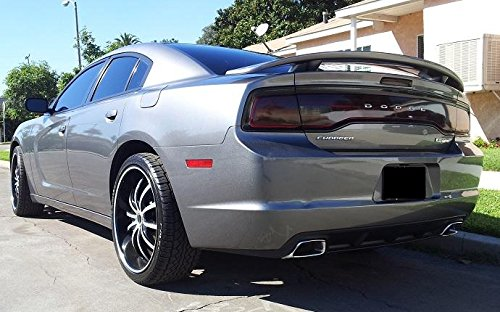 Precut Vinyl Tint Cover for 2011-2014 Dodge Charger Taillights (20% Dark Smoke)