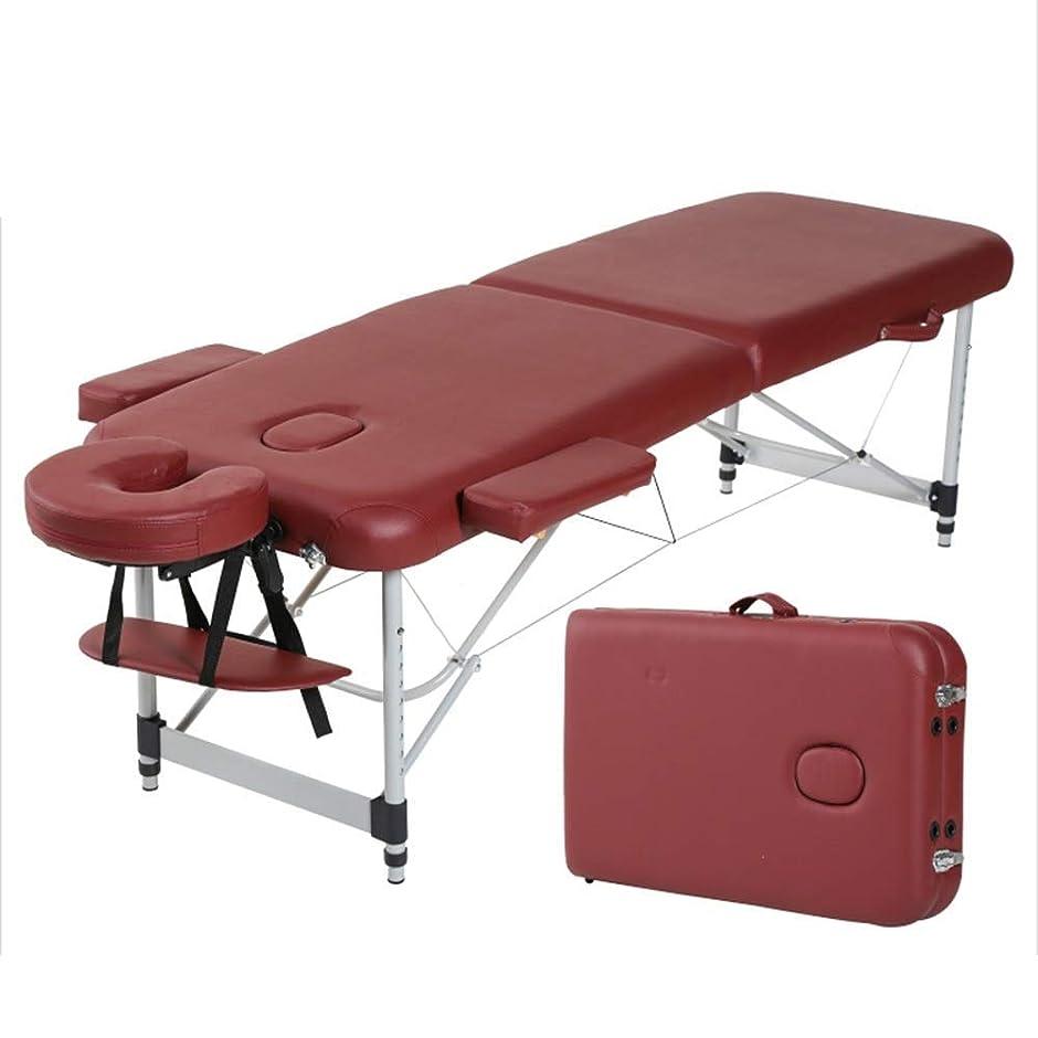 難しい二週間起点折りたたみマッサージベッド、美容ベッド理学療法こする家庭用ポータブルタトゥーベッドアルミニウムベッドフットマッサージテーブル(色:G),B