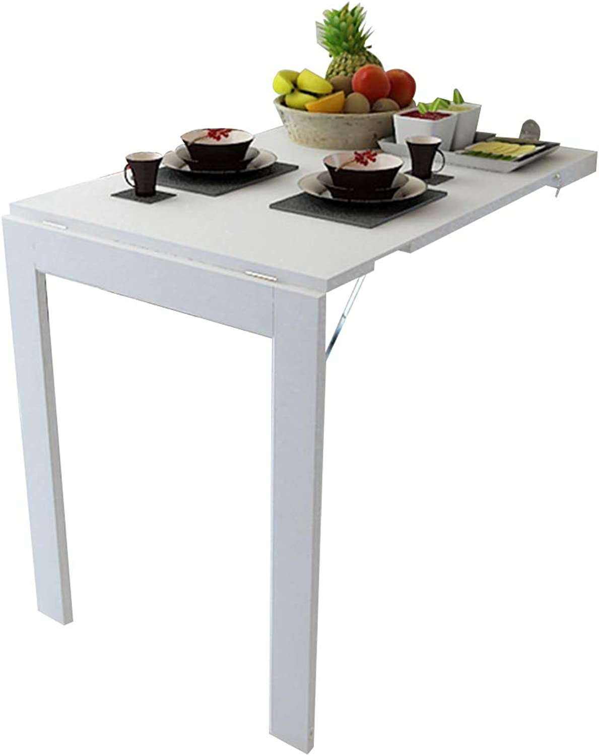 Virod-Desks Wall Mount Folding Table Drop-Leaf Table, Simple Against The Wall Dining Table Wall Hanging Computer Desk, 2 colors Modern Style (color   White)