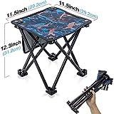 Petit Tabourets Pliant Camping Portable Mini Chaise Fauteuil Pliable Tabouret Chaises Pliantes d'extérieur Pliable Pêche Camp...