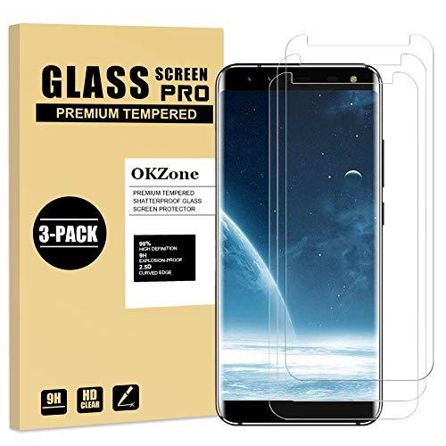 OKZone Vetro Temperato per Samsung Galaxy S8 Plus, [3 Pezzi] 9H Durezza Ultra-Clear Pellicola Protettiva in Vetro Temperato, 2.5D Touch Compatible, Anti-Graffio, Senza Bolle Trasparenza