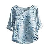 Women's Ruffle Neck 3/4 Sleeve Top...