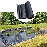 F-XW HDPE Teichfolie, Schwarz für Fischteiche, Bachläufe, Brunnen und Wassergärten, 2 x 5 m, 3 x 6 m, 4 x 8 m, 5 x 9 m, 6 x 10 m, 8 x 12 m