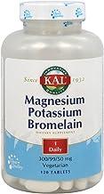 KAL Magnesium Potassium Bromelain Tablets, 120 Count