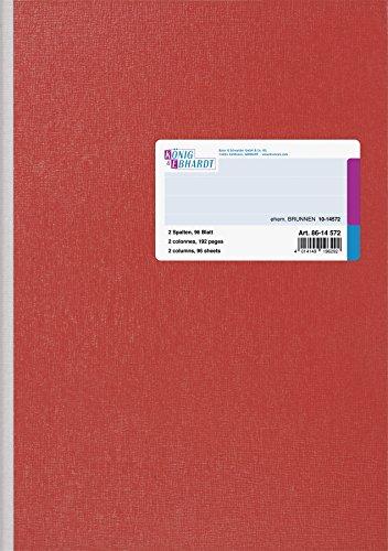 König & Ebhardt 8614572 Geschäftsbuch, A4, 2 Spalten, blau
