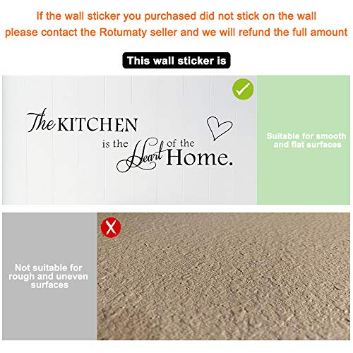 Rotumaty 'The Kitchen' Quote Wall Stickers Kitchen
