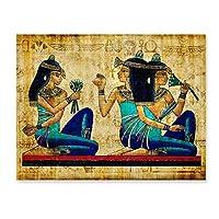 アートポスター リビングルームのレトロなエジプトの風景壁の写真宗教画キャンバスアートポスターとプリント家の装飾フレームなし-15X20Cmフレームなし、フレームなし2