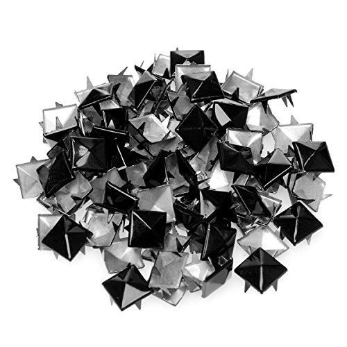 4sold (TM) 100Acryl Schwarz Bullet Spike Kegel Nieten, Perlen, Nähen auf, Kleber auf, Stick auf, DIY Kleidungsstücke, Taschen und Schuhe Verzierung