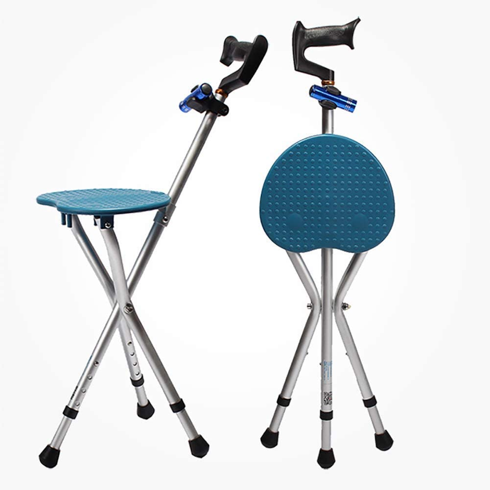 LED Lighting Folding Canes Stool with Stick New sales Seat Today's only Chair Walking