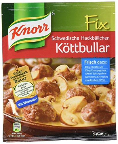 Knorr Fix Schwedische Hackbällchen Köttbular 3 Portionen (10 x 49 g)