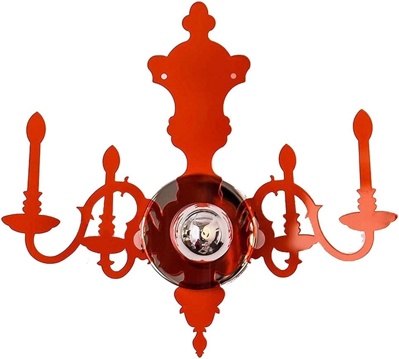 QFQ Kreative Persnlichkeit Kerze Wandleuchte, American rot Wohnzimmer Gang Treppenhaus Schlafzimmer Nachttischlampe AA+ (Farbe   M)