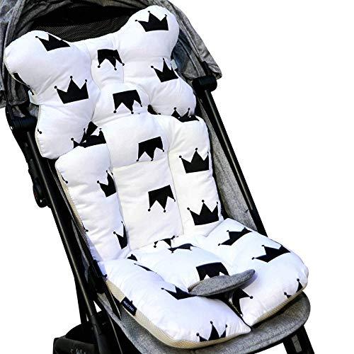 QFERW Mat Soft Baby Stroller Cojín Asiento Baby Pañal Pad Pad Pad Asiento de algodón Baby Stroller MatMat tress, Corona Blanca