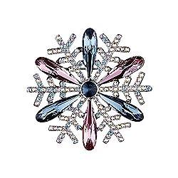 Rhinestone Snowflake Brooch Pins Ewelry