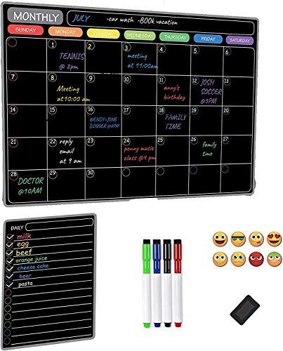 Owl Fun Calendario de nevera útil planificador de menús, planificador semanal o lista de compras semanal para adultos y niños, fácil de escribir y limpiar (1 paquete)
