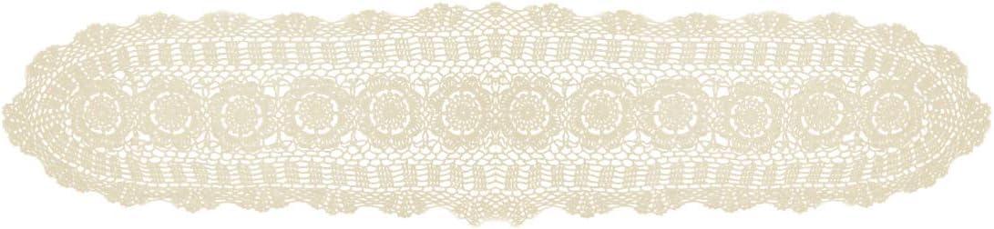 kilofly Handmade Crochet Rapid rise Lace Rectangular Table Soldering 43 I Runner x 11