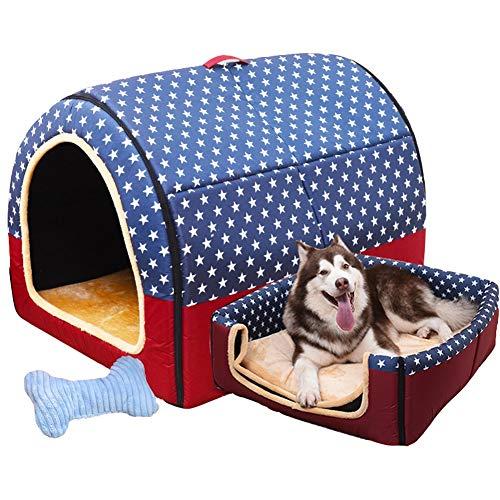 XJRHB Große Hundehütte Winter warm waschbar Haustier Nest mittlere Hundehütte Indoor Hundehütte 6 Arten 6 Größen erhältlich (Color : B, Size : XXL)