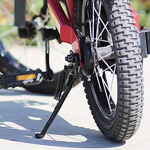 """Banane Kinder Fahrrad StäNder, Kinderfahrrad Einseitiger Stand Für 12\""""/ 14\"""" / 16\""""/ 18\"""" / 20\""""- Kinderfahrräder, Stabiler Fahrradständer Einseitiger Ständer Klappbarer Fahrradständer Fahrräder Zubehör"""