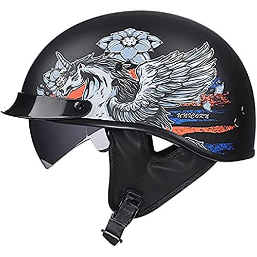Open Face Half Helm, (Pegasus-Muster)...