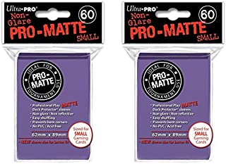 Ultra Pro 120 Purple Small PRO-Matte Deck Protectors Sleeves [2 Packs of 60]