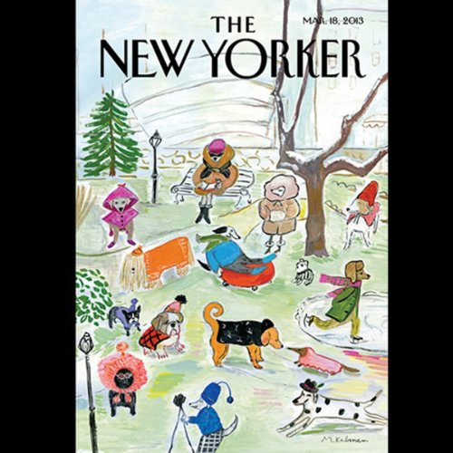 The New Yorker, March 13th 2013 (Jill Lepore, David Owen, Jesse Eisenberg) cover art