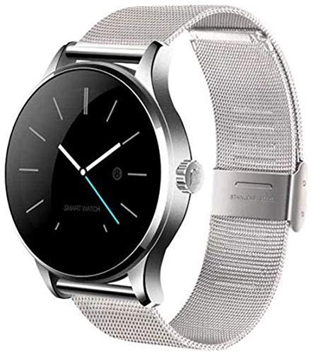 NMQQ Smart Watch 1,2 Zoll K88H weibliche Fitness Bluetooth Smart Herzfrequenzmonitor Uhrverfolger Armband Smartwatch kinästhetische Intelligenz kann Android iOS-Version Sein,1,2 Zoll,silbriges.