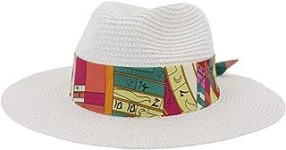 SHENTIANWEI Summer Women Men's Straw Sun Hat Elegant Lady Beach Ha Wide Brim Sun Hat Garland Sunbonnet Size56-58CM