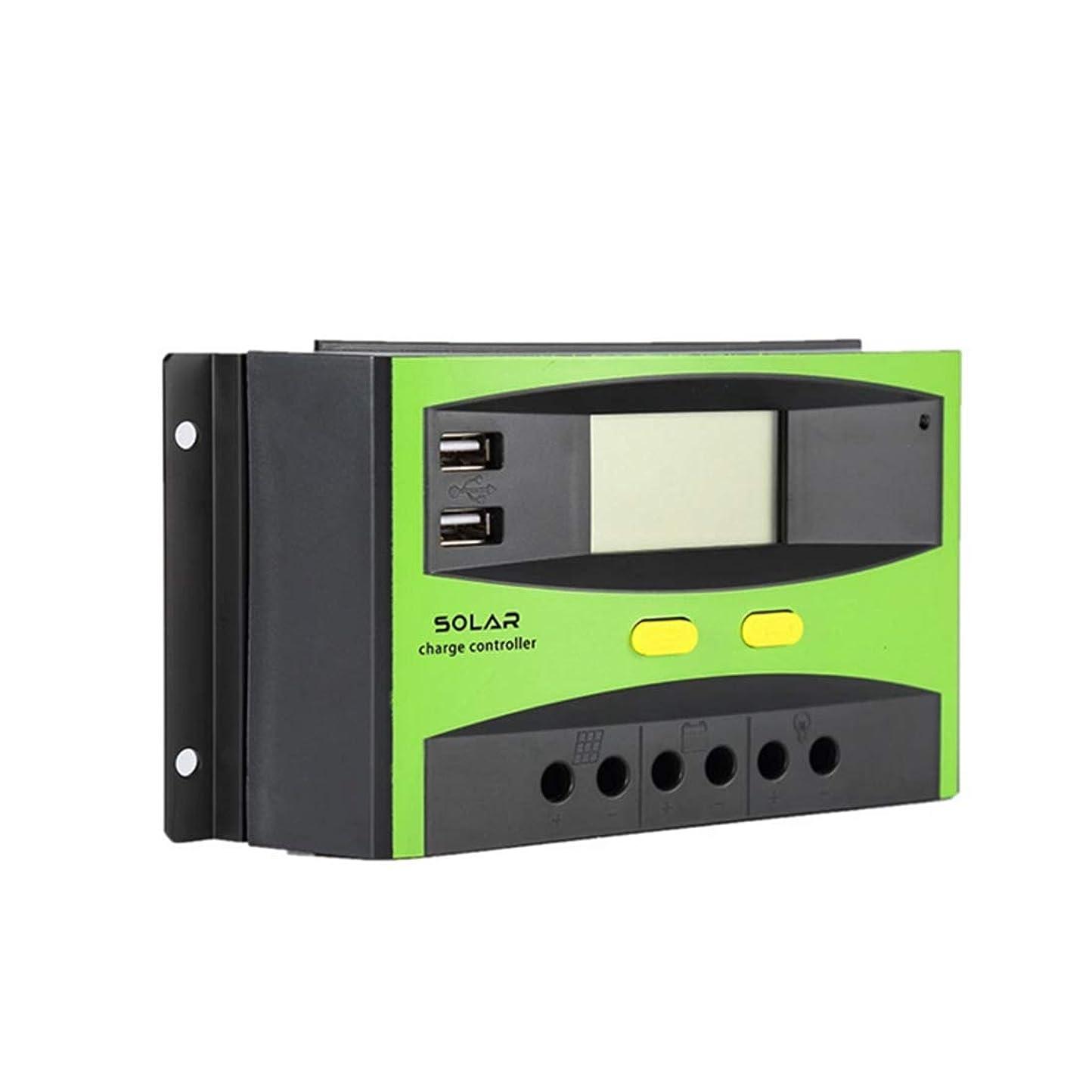 敬礼下品人に関する限りHexiaoyi ソーラー充電コントローラソーラーパネルレギュレータ現在表示PWM 20Aに60Aの12V / 24Vは、同時にUSBでLCD過負荷保護を使用します (Edition : 30a-12V/24V)